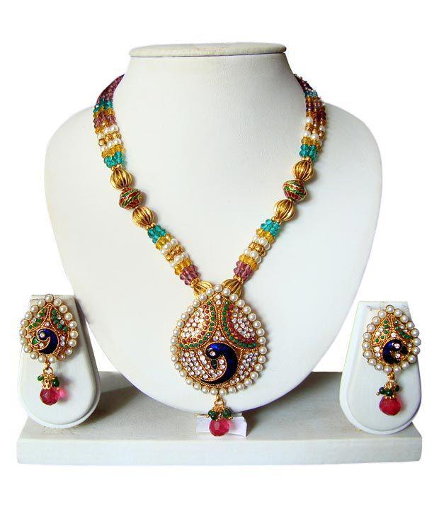 Adoreva Gorgeous Festive Mayur Necklace Set 48