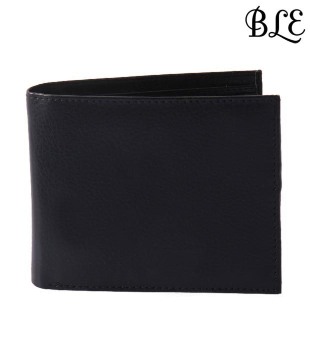 BLE Contemporary Black Crack Finish Wallet