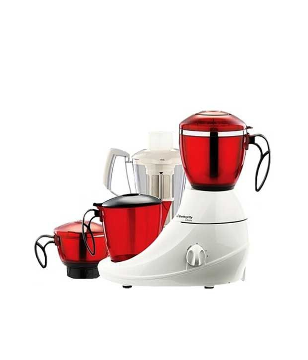 Butterfly 4 Jar Desire Mixer Grinder Red-White