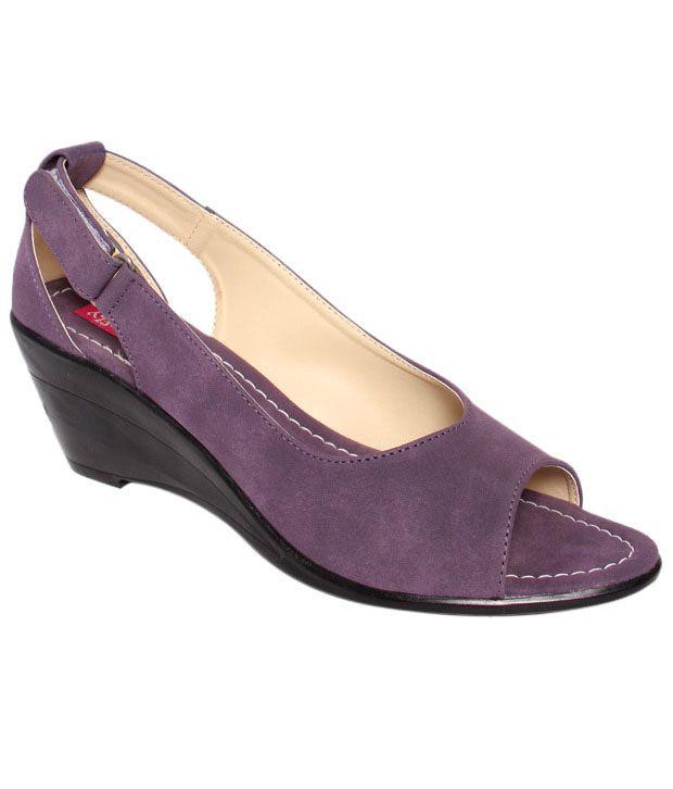 Butterfly Purple Wedge Heel Sandals