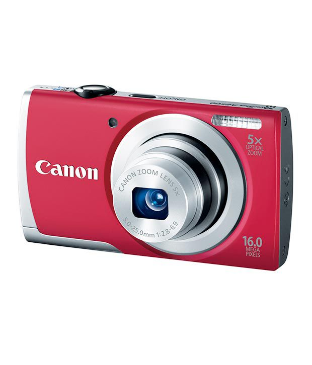 Canon Powershot A2500 16MP Digital Camera Red