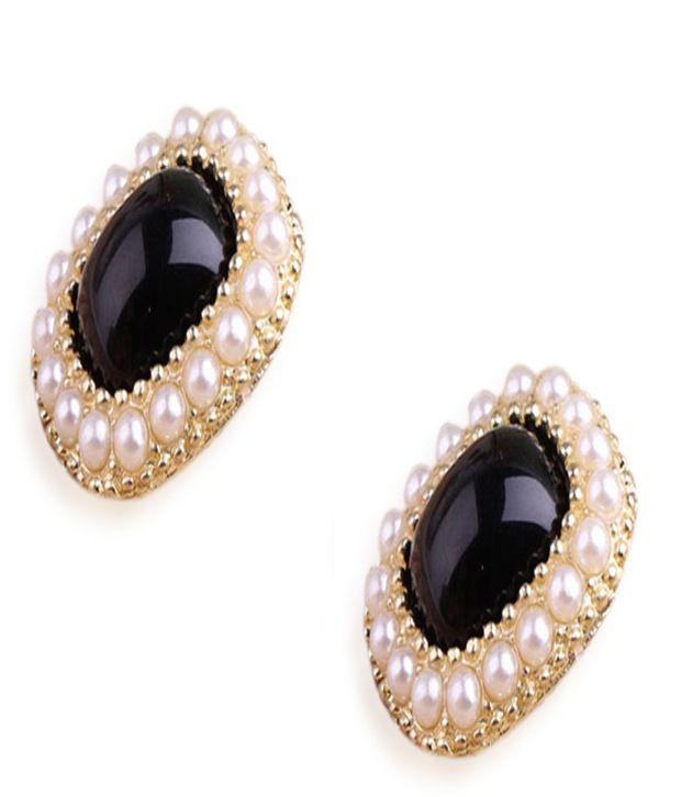 Cinderella Fashion Jewelry  Pearl Beads Embellished Earrings