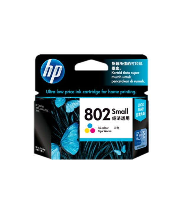 HP 802 Small Tri-color Ink Cartridge
