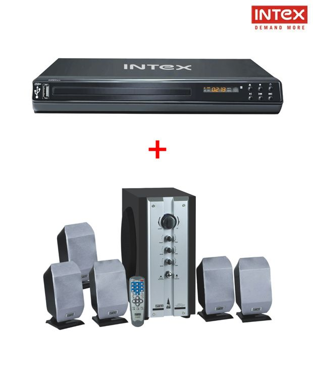 Intex 5.1 N-61 DVD Player With Intex 5.1 spk4000SB