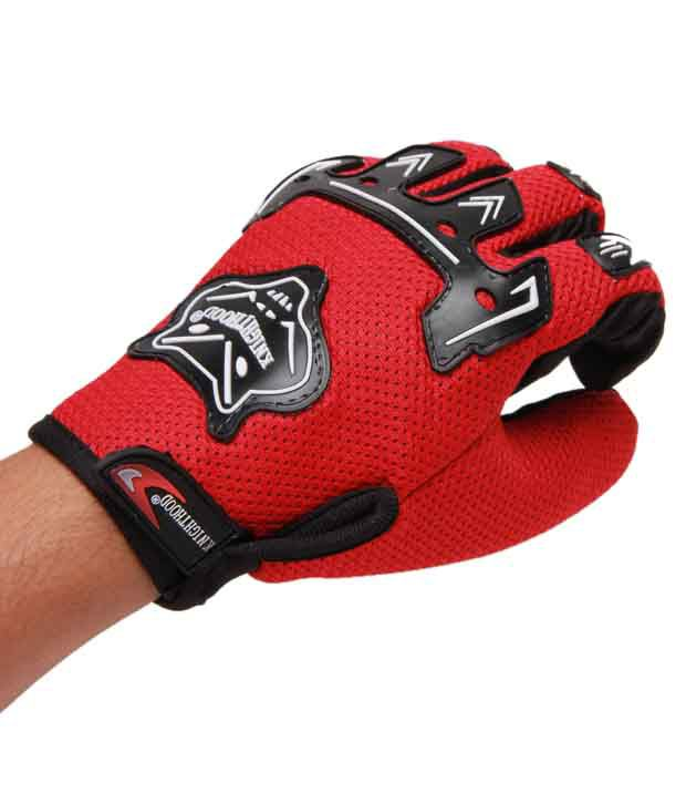 Knight Hood - Gloves Full - Red - Size (XL)