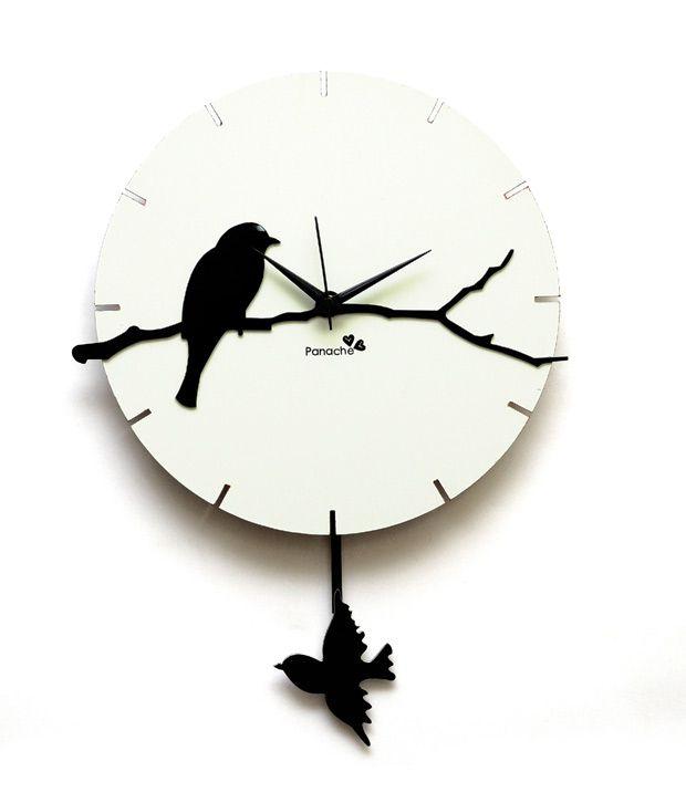 panache birds with pendulum wall clock