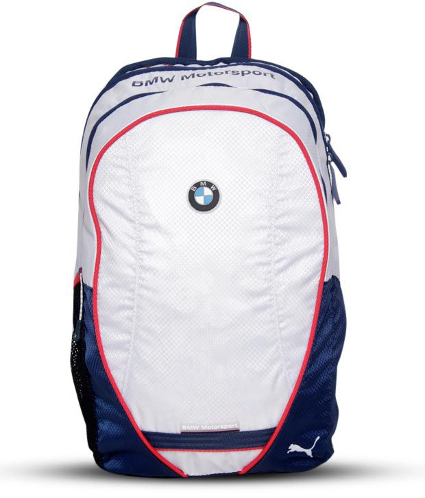 Puma White Bmw Motorsport Backpack Buy Puma White Bmw