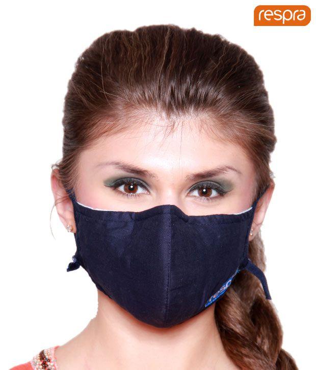Respra - Anti Pollution Mask - Dark Blue (Pack of 3)