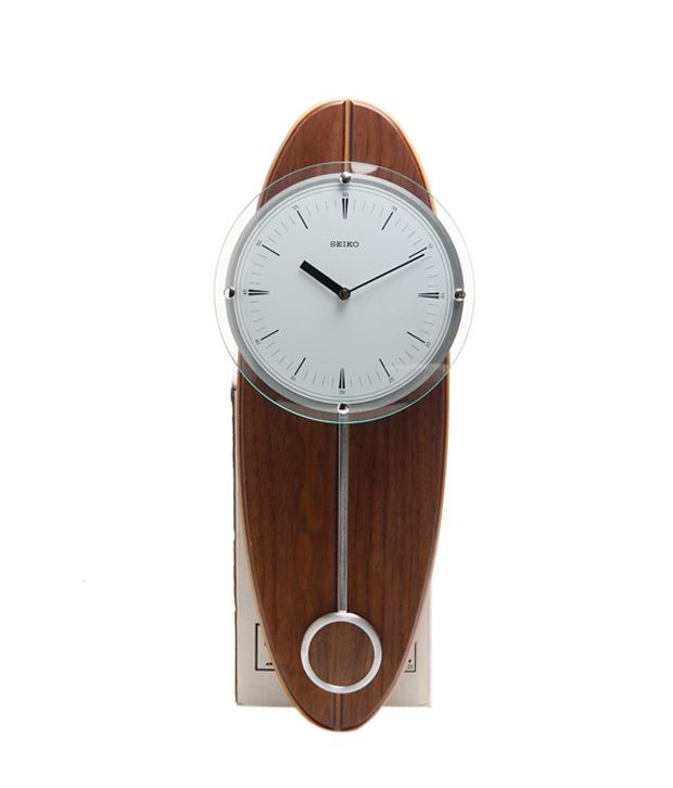 Seiko Brown Amp White Pendulum Wall Clock Buy Seiko Brown