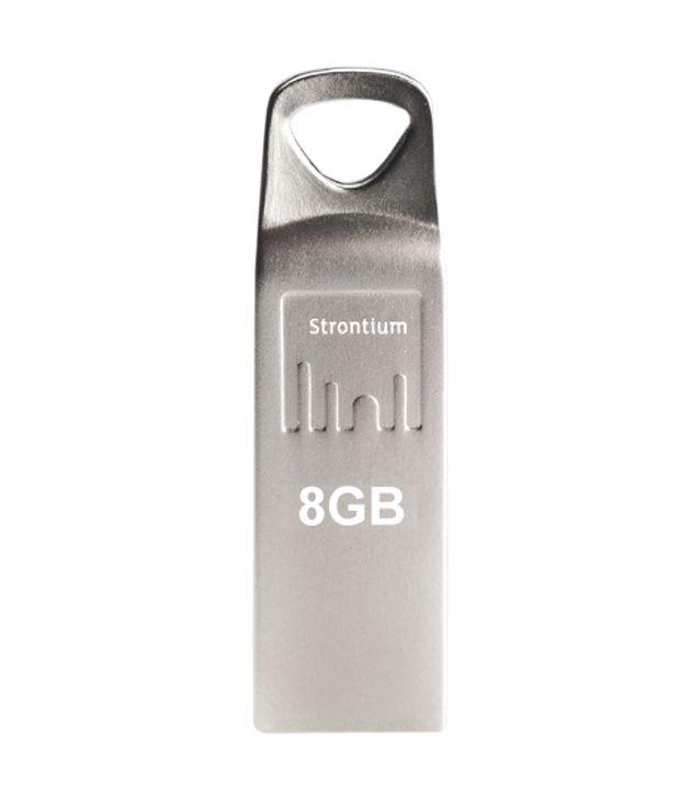 Strontium 8GB Ammo Pen Drive Silver