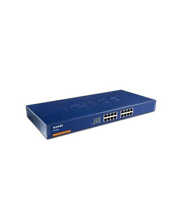 Tenda 10/100 Mbps 16 Ports Ethernet Switch (Metal Body) (TE-TEH1600M)