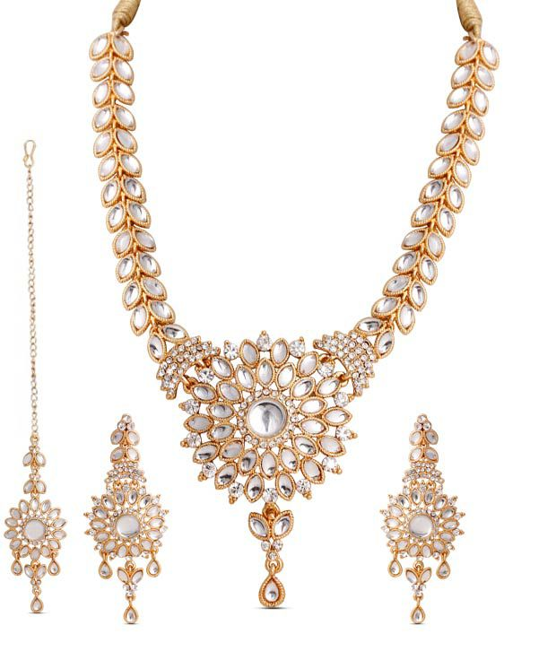 Touchstone Floral Design Traditional Kundan Necklace Set