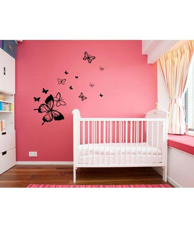 WallDesign Butterfly Away Black Wall Stickers 1