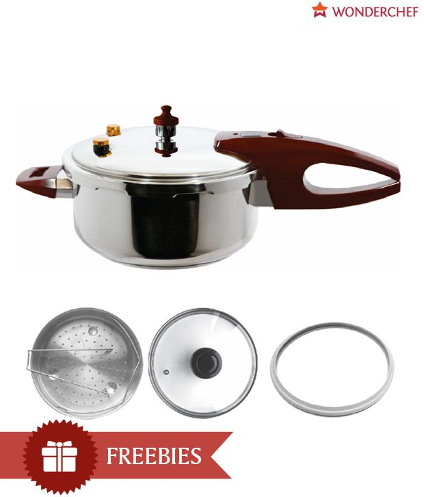 24f6b023c Wonderchef Secura 5 Pressure Cooker 5 Ltrs  Buy Online at Best Price in  India - Snapdeal