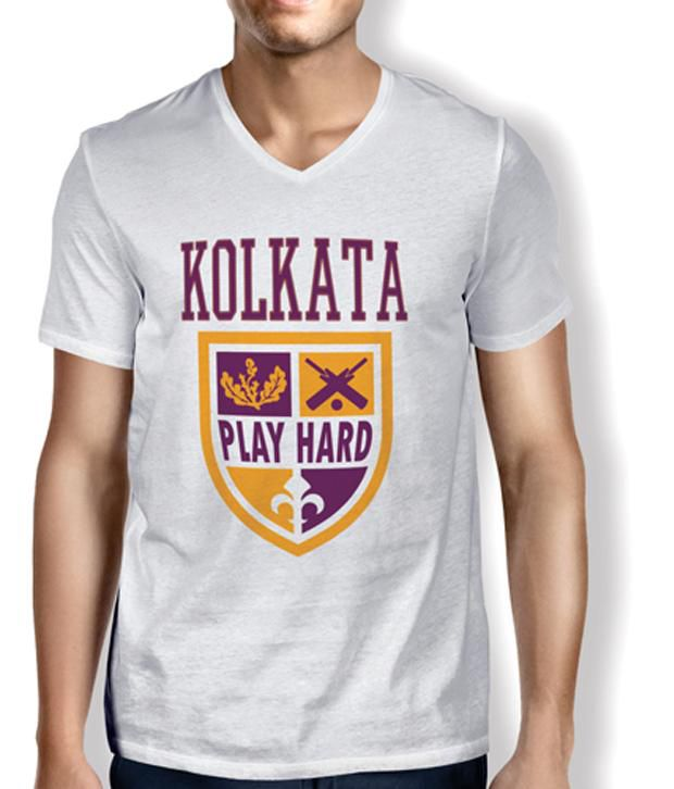 Anger Beast KALLIS-KOLKATA White Sweat Free T-Shirt for all Cricket Crazies