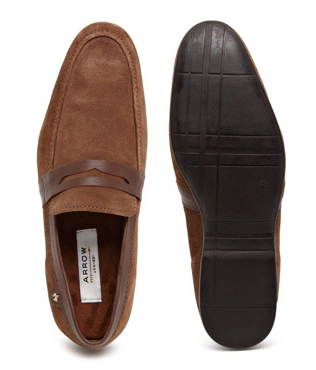 48a4cb82a3a Arrow Brown Loafers - Buy Arrow Brown Loafers Online at Best Prices ...