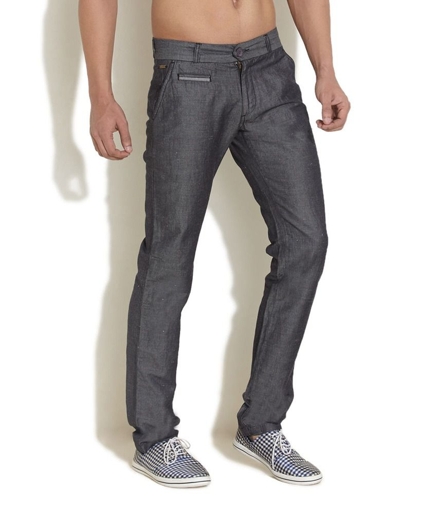 King And I Overcast Chambray Grey Trouser
