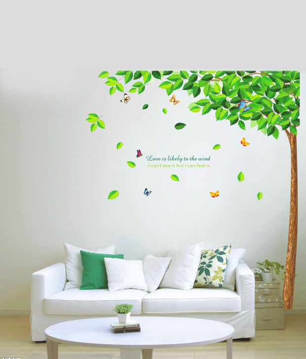 Wall Decor Stickers Snapdeal : Wow interiors and decors natural tree wall sticker buy