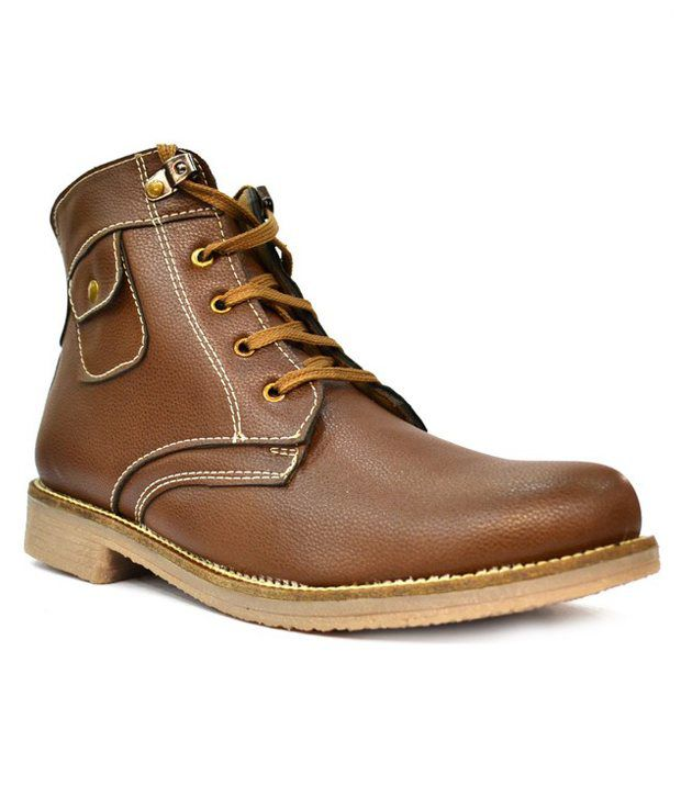 Zoot24 Rome Tan High Ankle Length Boots