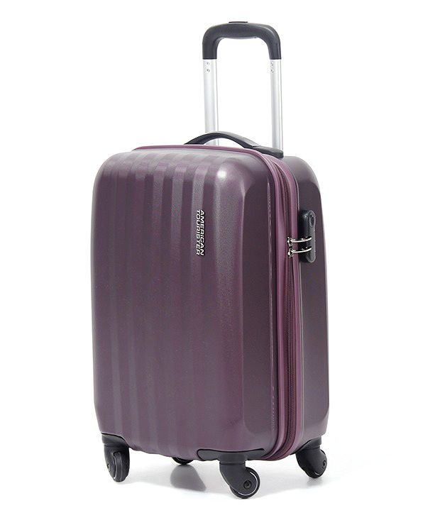 american tourister purple luggage