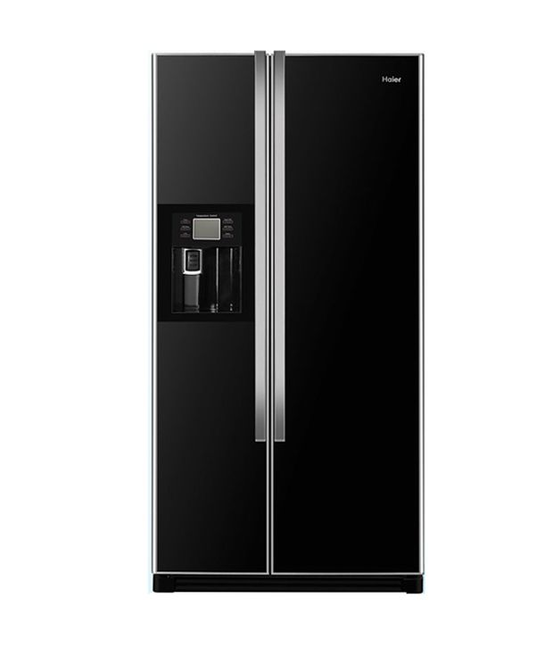 haier 556 ltr hrf663ita2 side by side refrigerator dark. Black Bedroom Furniture Sets. Home Design Ideas