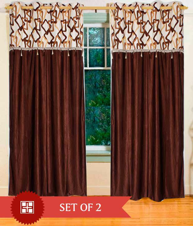 Home Candy Fancy Door Curtains- 7 ft (Buy1 Get1) - Buy