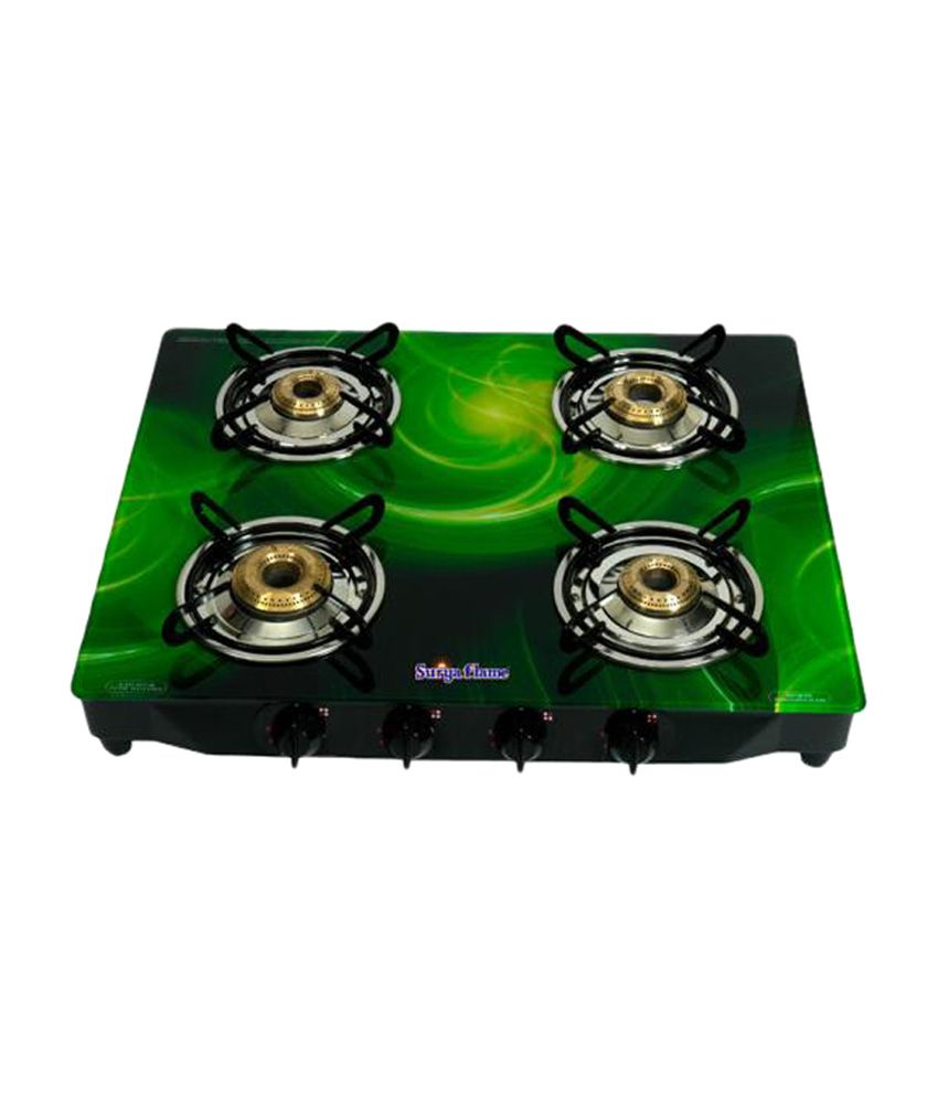 Surya Flame Galaxy SFGL-GL-0254B Gas Cooktop (4 Burner)