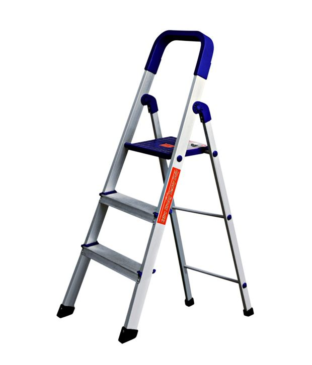 Cipla Plast Folding Aluminium Ladder Home Pro 3 Steps