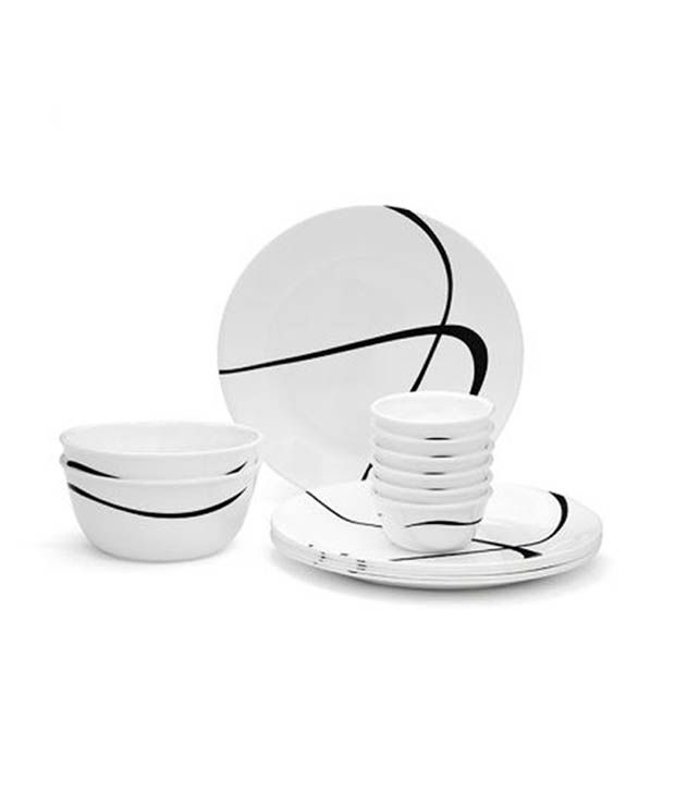 Corelle 14 Pcs Dinner Set-India Impressions Twists & Turns