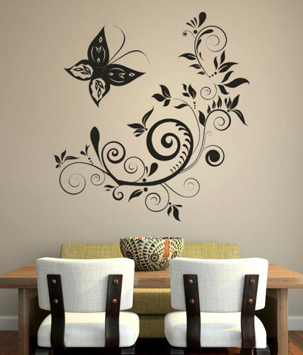 destudio black butterfly wall decal - buy destudio black butterfly