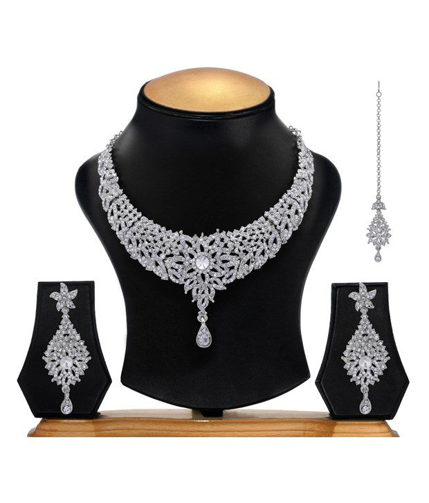 Ethnic Jewels AD Excellent Necklace Set