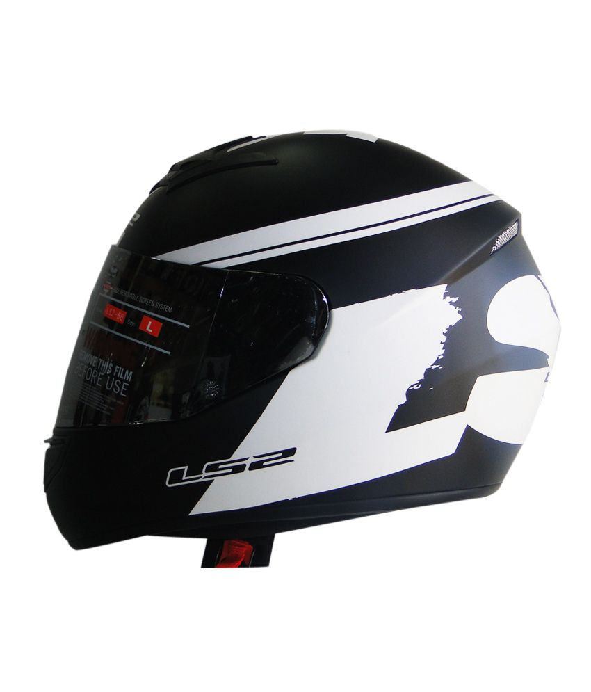 ls2 helmet ff350 bulky matte black white size. Black Bedroom Furniture Sets. Home Design Ideas