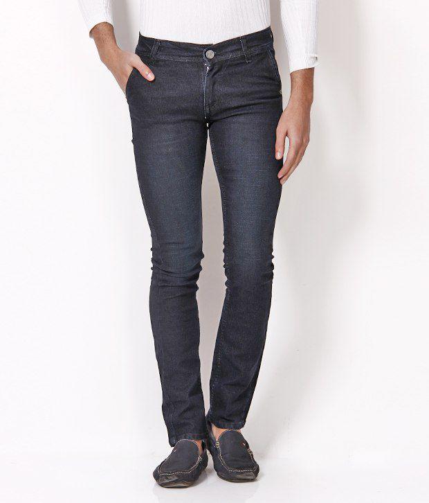 Nation Mania Dark Blue Slim Fit Jeans