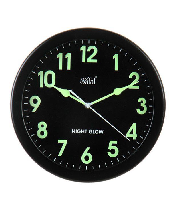 Safal Circular Analog Wall Clock Sqng 101 27 Cms Pack Of