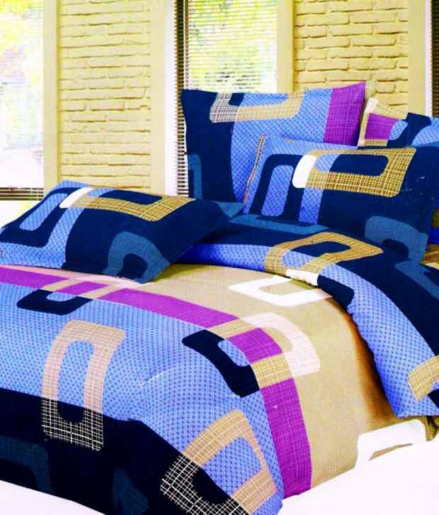 Shengyi Double Bed Sheet U0026 2 Pillow Covers Combo ...