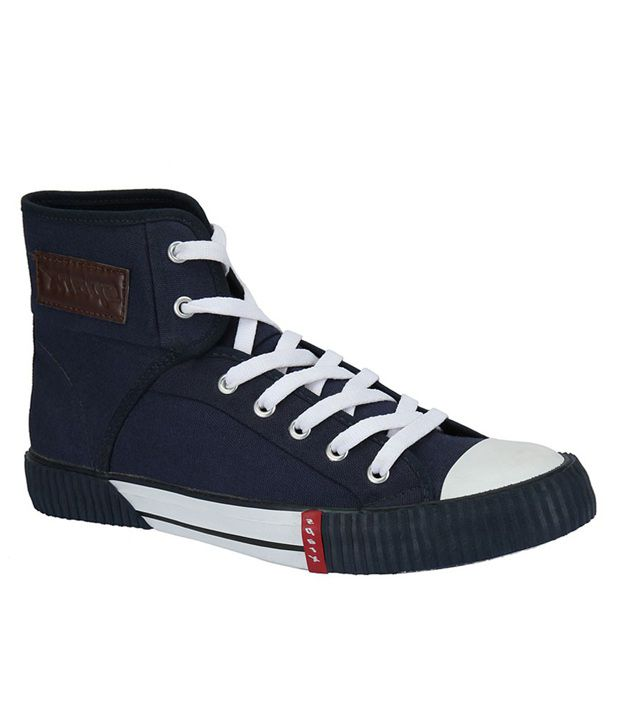 Sparx Blue High Ankle Length Sneakers