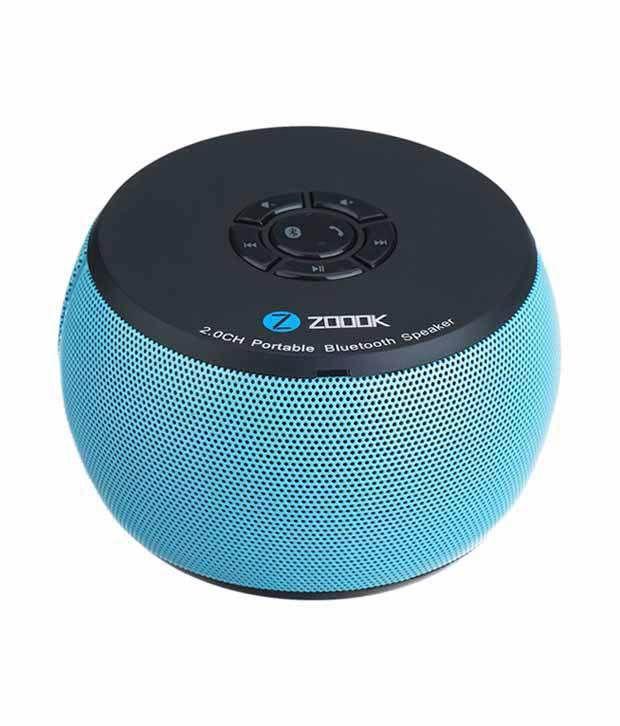 Zoook Air Drum BS100 Portable BT Speaker   Aqua