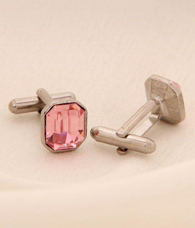 Favola Light Rose Crystal Cufflinks