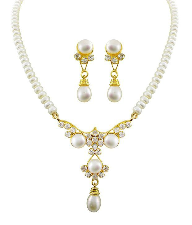 Sri Jagdamba Pearls Pearl Design Fine Necklace Set Buy