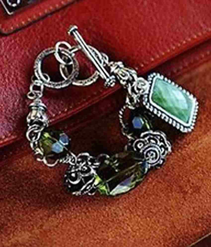 Pari Green Beads Trinket Charming Bracelet