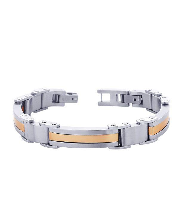 Peora Elegant Dual Tone Stainless  Steel Bracelet
