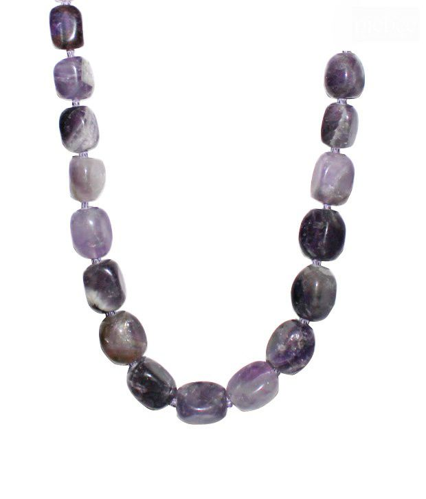 Piebee Tumbled Amethyst Necklace