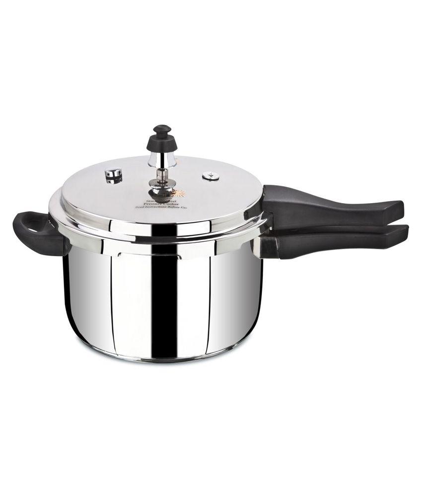 pritam induction compatible stainless steel encapsulated bottom outer lid pressure cooker 10. Black Bedroom Furniture Sets. Home Design Ideas