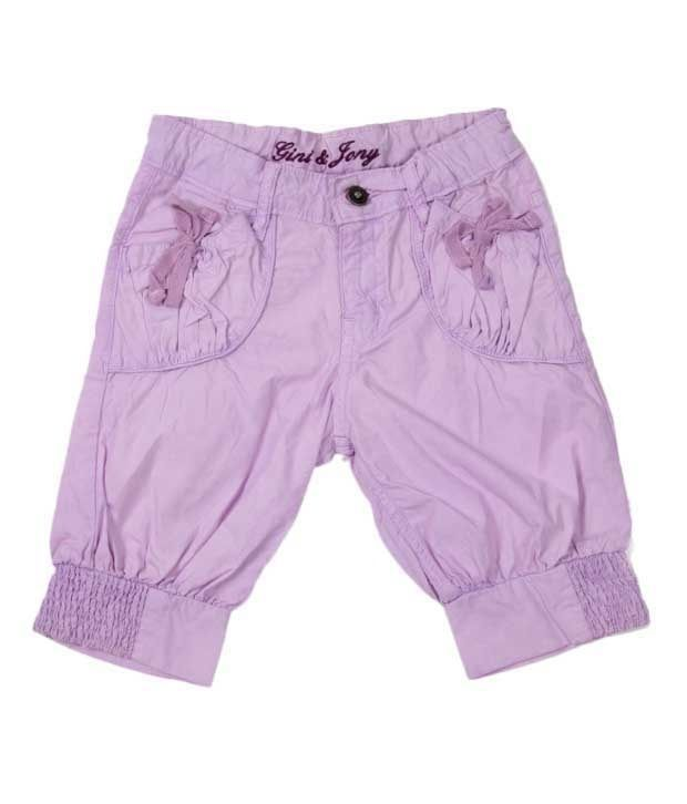 Gini & Jony Deep Orchid Color Capri For Kids