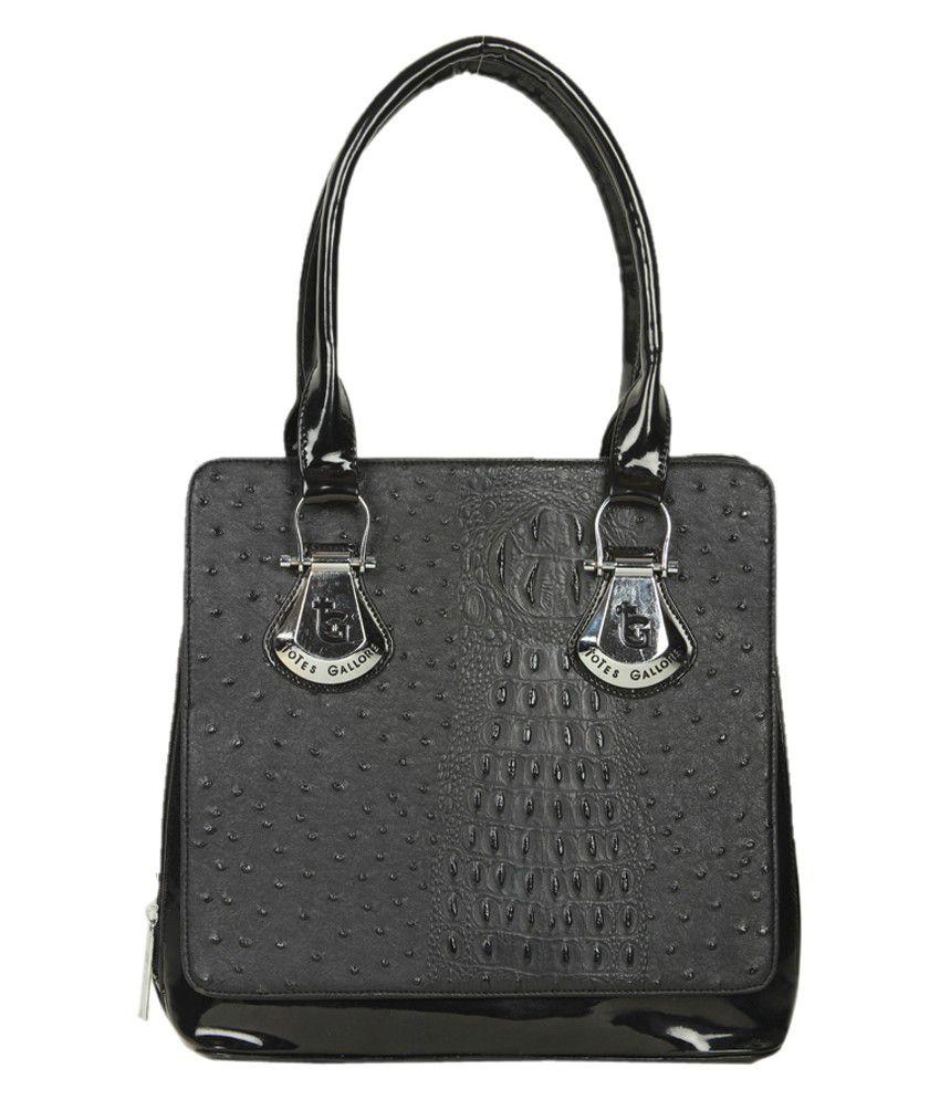 Miss Sunshine Fleur Tote Bag - Black