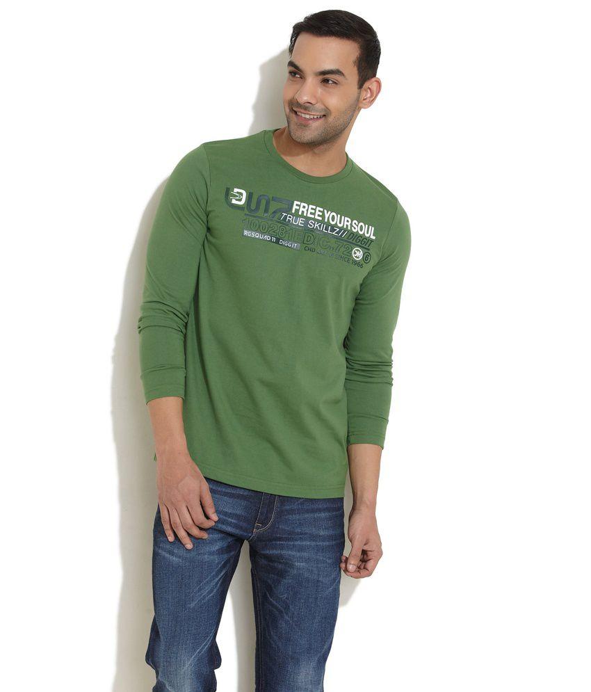 Duke Autumn Appeal Full Sleeves Green Tee