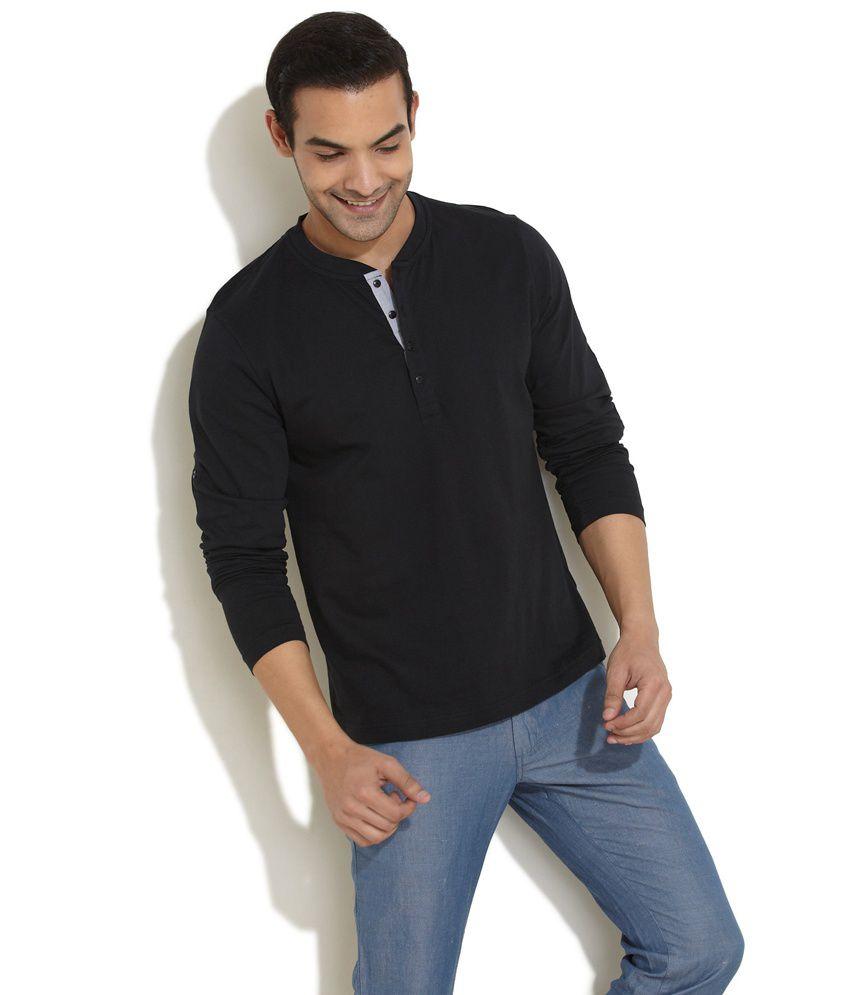 Freecultr Classic Henley Black Shirt