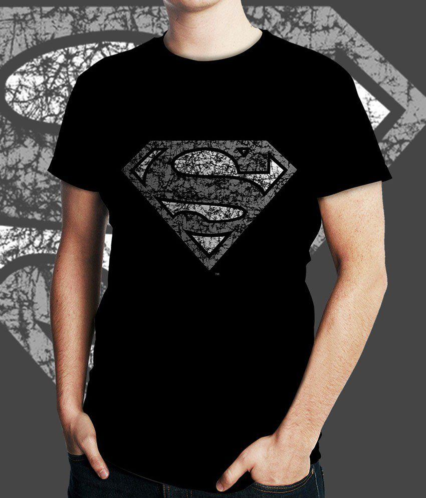 White Kalia Superman Black   T-Shirt