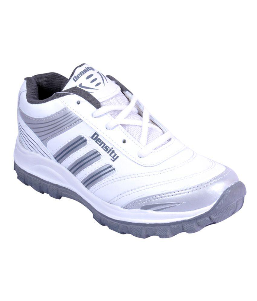 Density White & Gray Sports Shoes