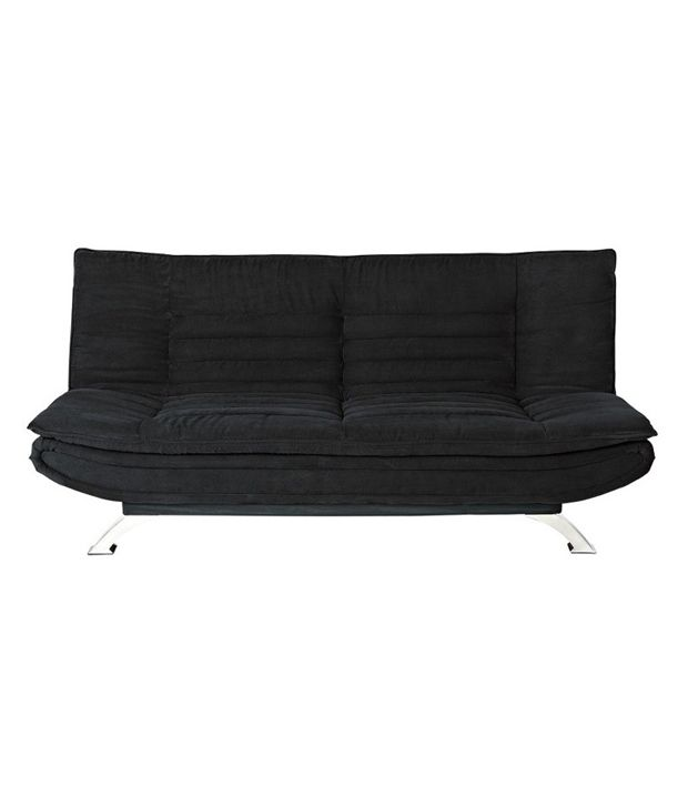 EDO 3 seater sofa cum bed - Black